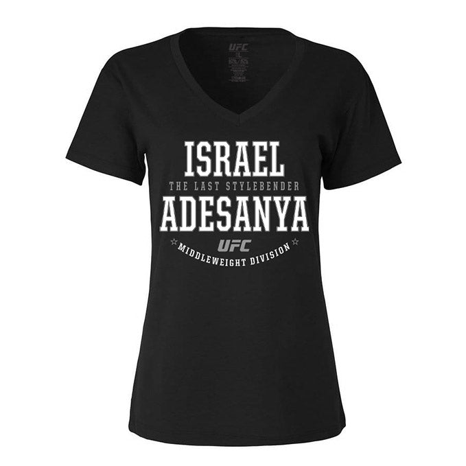 "Women's UFC Israel ""The Last Stylebender"" Adesanya Graphic T-Shirt - Black"