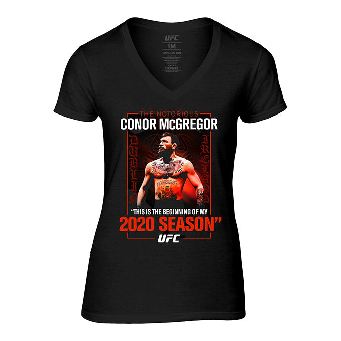 "Women's UFC Conor ""The Notorious"" McGregor Winners T-Shirt - Black"