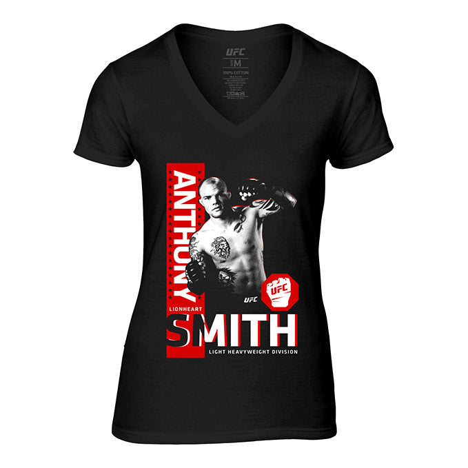 "Women's UFC Anthony ""Lionheart"" Smith Portrait T-Shirt - Black"