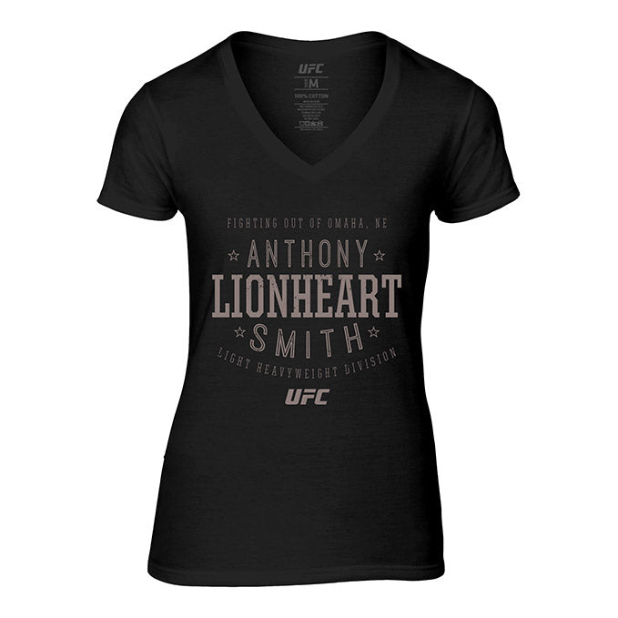"Women's UFC Anthony ""Lionheart"" Smith Stacked T-Shirt - Black"
