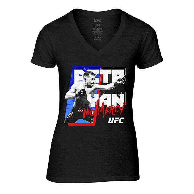 "Women's UFC Petr ""No Mercy"" Yan Graphic T-Shirt - Black"