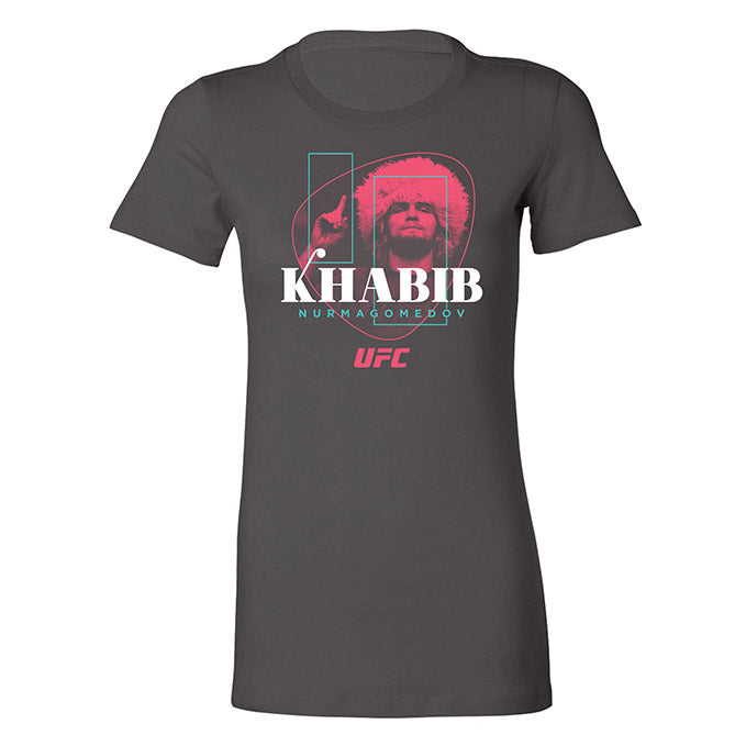 "Women's UFC Khabib ""The Eagle"" Nurmagomedov Poster T-Shirt - Asphalt"