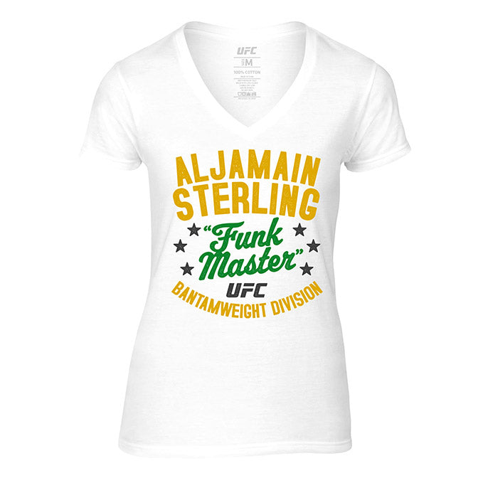 "Women's UFC Aljamain ""Funk Master"" Sterling Vintage T-Shirt - White"