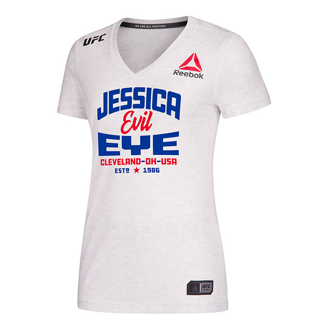 Women's Reebok Jessica Eye Chalk UFC 238 Legacy Series Walkout Jersey