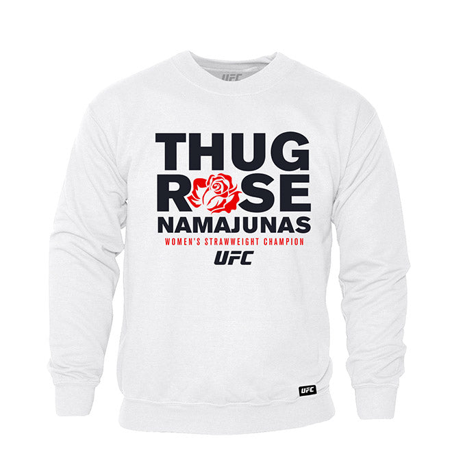 "UFC Women's Rose ""Thug"" Namajunas Graphic Hoodie - White"
