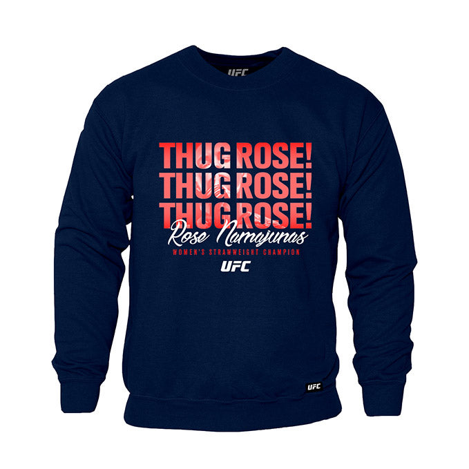 "UFC Women's Rose ""Thug"" Namajunas Quote Sweatshirt - Navy"