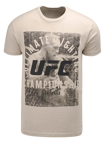 Men's Reebok Conor McGregor Chalk Authentic UFC Fight Night Walkout Jersey