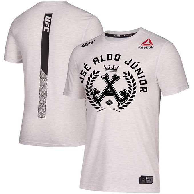 Men's Reebok José Aldo Chalk Authentic UFC 218 Legacy Series Walkout Jersey