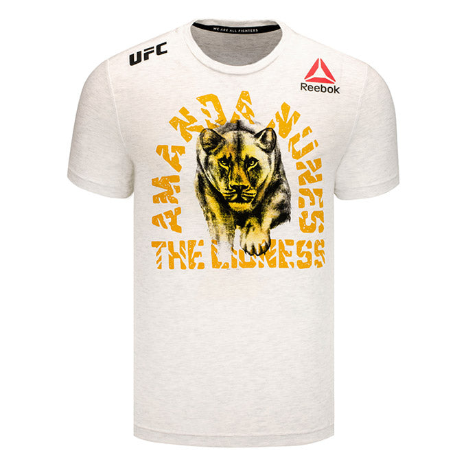 Men's Reebok Amanda Nunes Chalk Authentic UFC 232 Legacy Series Walkout Jersey