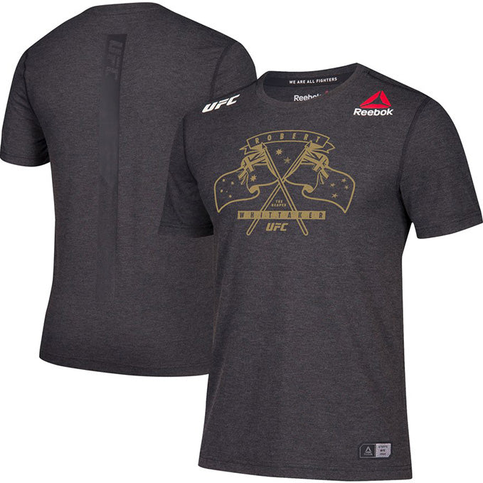 Men's Reebok Robert Whittaker Black Authentic UFC 225 Legacy Series Walkout Jersey