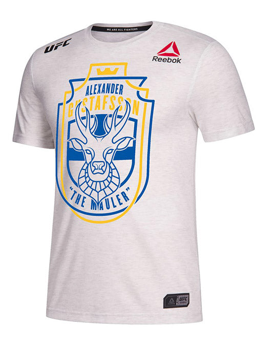 Men's Reebok Alexander Gustafsson Chalk Authentic UFC 232 Legacy Series Walkout Jersey
