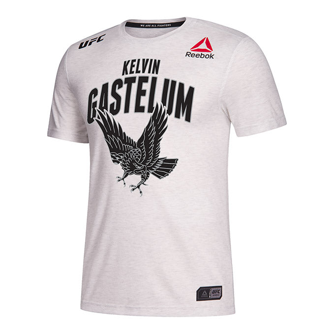 Men's Reebok Kelvin Gastelum Chalk Authentic UFC 234 Legacy Series Walkout Jersey