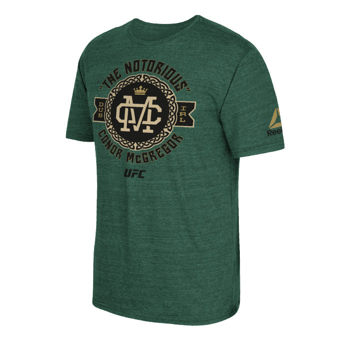 UFC Reebok Conor McGregor Notorious Celtic Badge T-Shirt