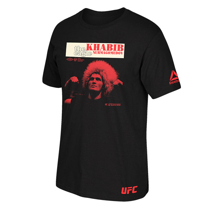 UFC Reebok Khabib Nurmagomedov Eagle Retro Photo T-Shirt