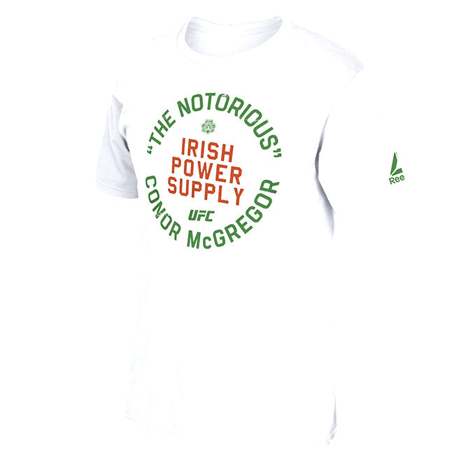 Reebok UFC McGregor Irish Power Supply T-Shirt
