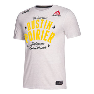 Men's Reebok Dustin Poirier Chalk Authentic UFC 236 Legacy Series Walkout Jersey