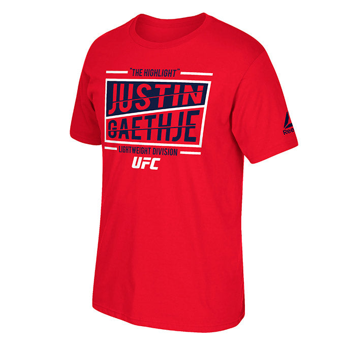 "UFC Reebok Justin ""The Highlight"" Gaethje Split T-Shirt"