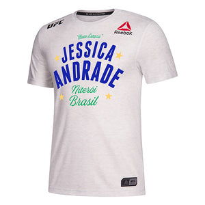 Men's Reebok Jessica Andrade Chalk Authentic UFC 237 Legacy Series Walkout Jersey