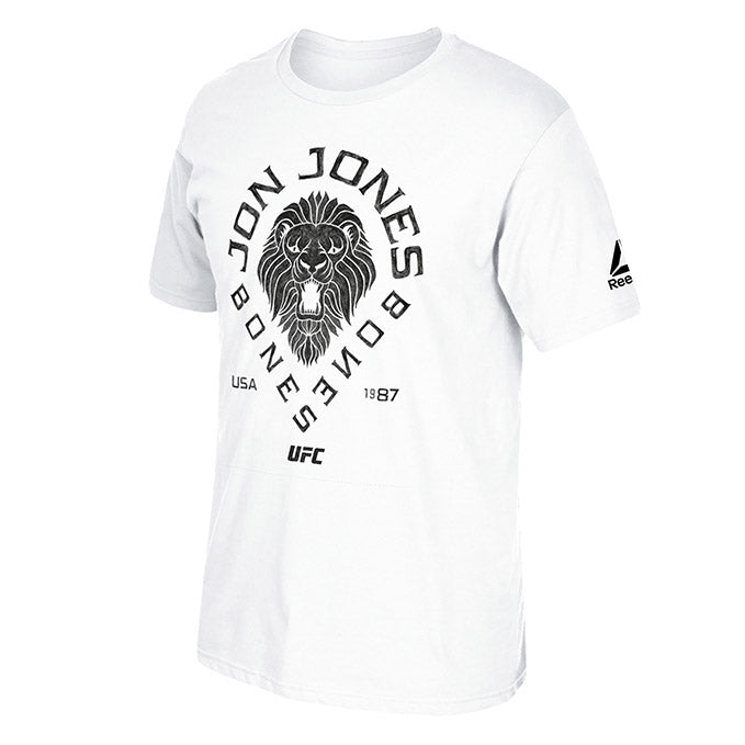 UFC Men's Reebok Jon Jones Black Lion T-Shirt