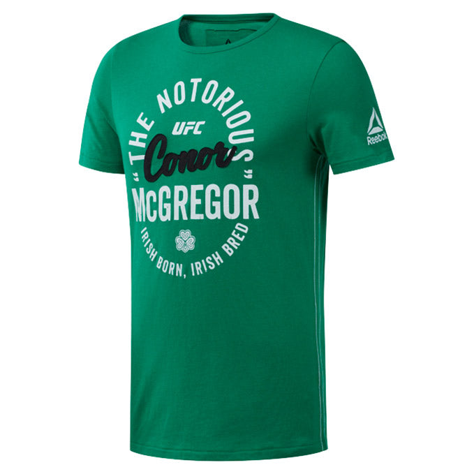 UFC Reebok Fan Gear Retro McGregor T-Shirt - Green
