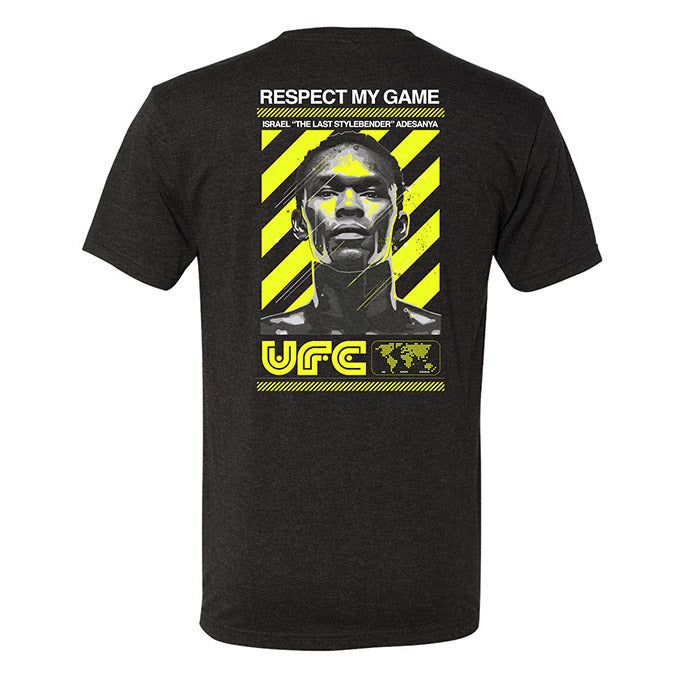 Men's UFC Israel Adesayna Respect Collection T-Shirt - Charcoal