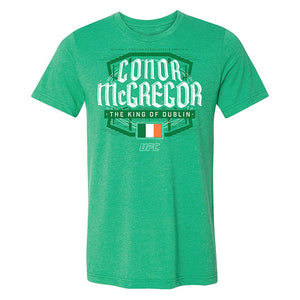 Men's Conor McGregor King of Dublin T-Shirt - Heather Kelly Green