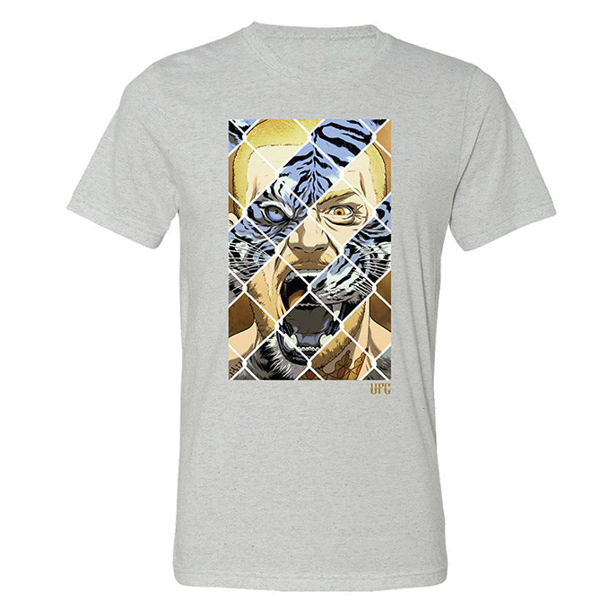 Men's UFC Conor McGregor Tiger Eyes T-Shirt - White Fleck