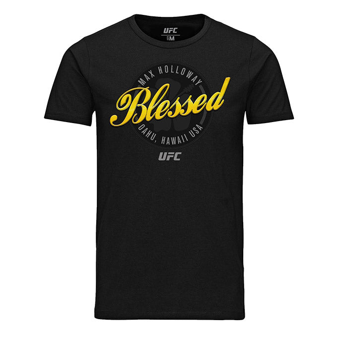 "Men's UFC Max ""Blessed"" Holloway Script Graphic T-Shirt - Black"