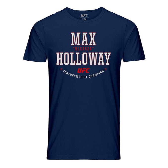 "Men's UFC Max ""Blessed"" Holloway Graphic T-Shirt - Navy"