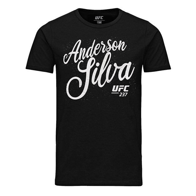 "Men's UFC Anderson ""The Spider"" Silva Script T-Shirt - Black"