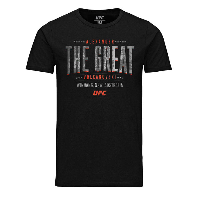 "Men's UFC Alexander ""The Great"" Volkanovski Shield T-Shirt - Black"