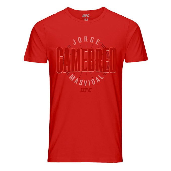 "Men's UFC Jorge ""Gamebred"" Masvidal Fade T-Shirt - Red"
