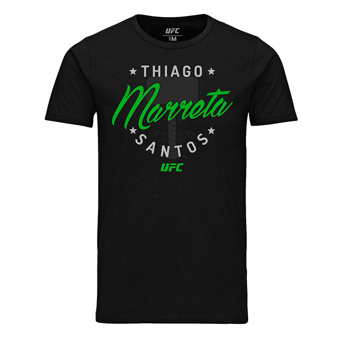 "Men's UFC Thiago ""Marreta"" Santos Graphic T-Shirt - Black"