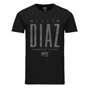 UFC 241 Nate Diaz Distressed Graphic T-Shirt - Black