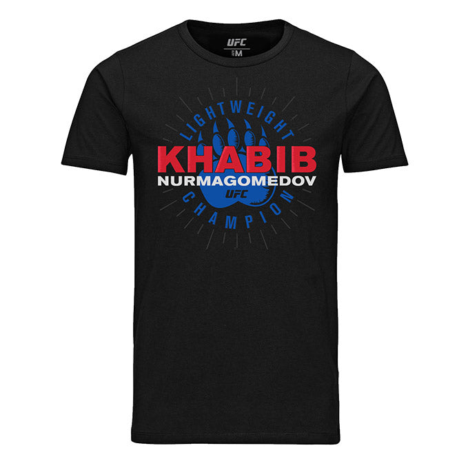 "UFC Khabib ""The Eagle"" Nurmagomedov Bear Claw Graphic T-Shirt - Black"