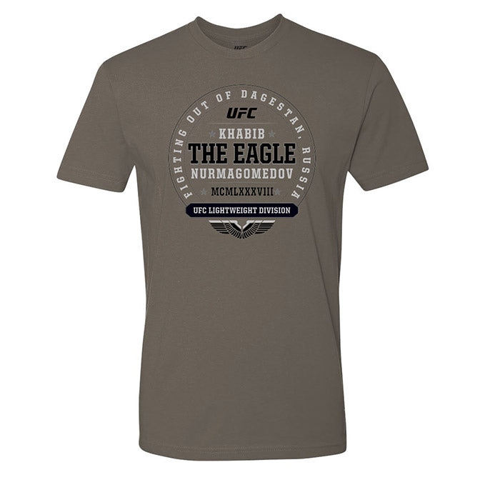 "UFC Khabib ""The Eagle"" Nurmagomedov  Established MCMLXXXVII Graphic T-Shirt - Grey"