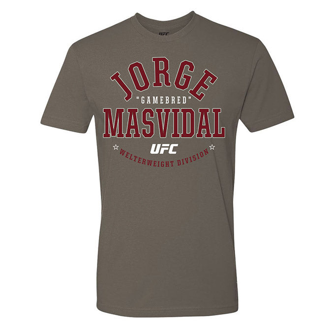 "Men's UFC Jorge ""Gamebred"" Masvidal College Graphic T-Shirt - Grey"