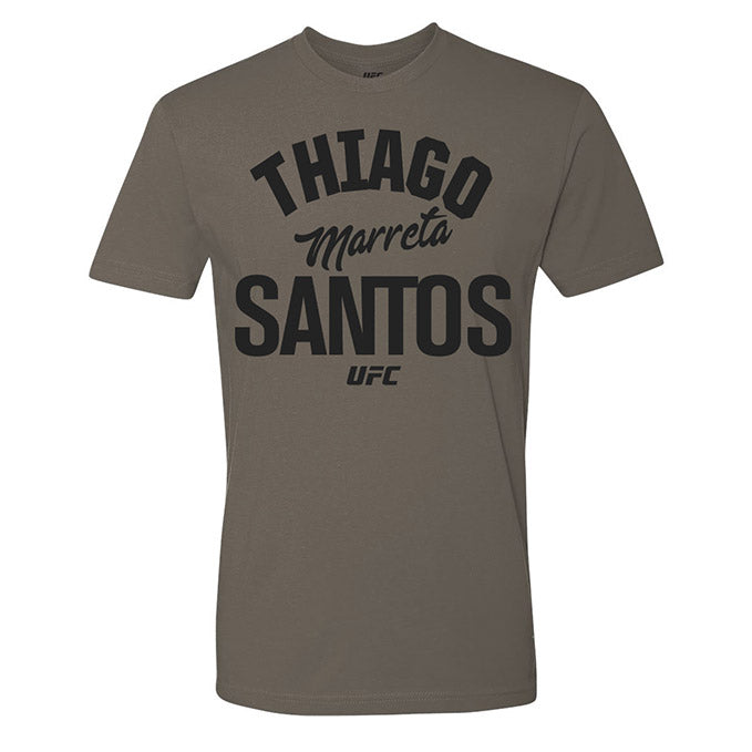 "Men's UFC Thiago ""Marreta"" Santos Old School T-Shirt - Yellow"