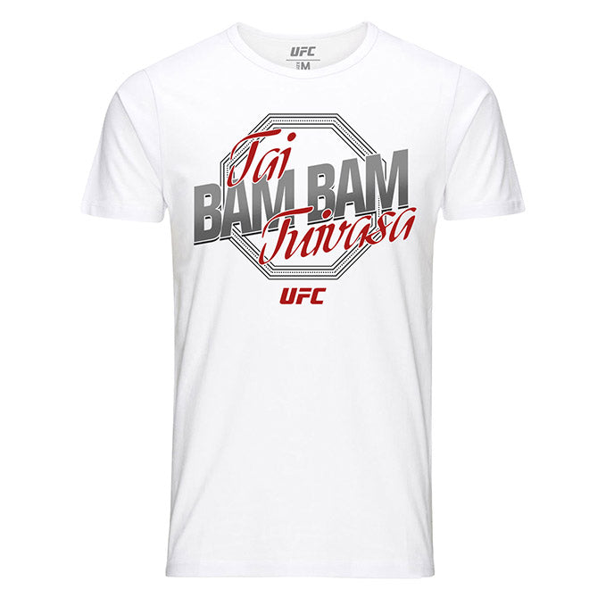 "Men's UFC Tai ""Bam Bam"" Tuivasa Octagon Graphic T-Shirt - White"