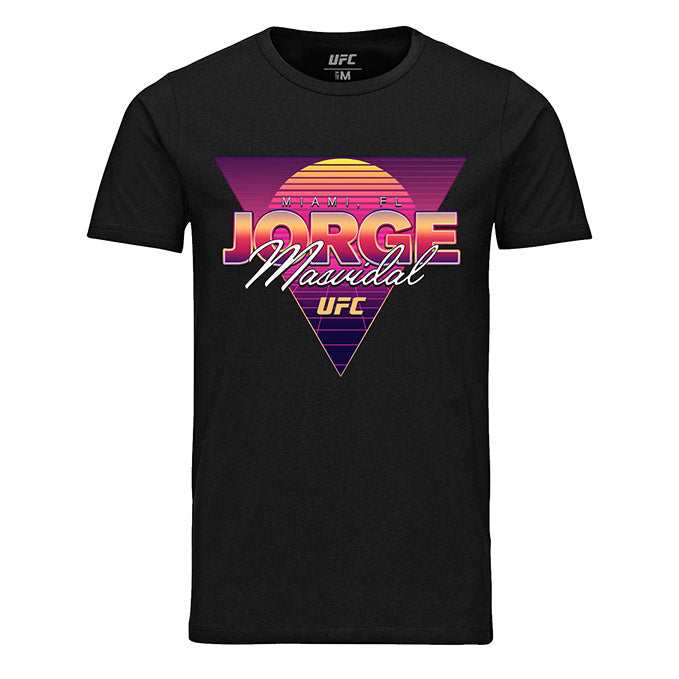 "Men's UFC 244 Jorge ""Gamebred"" Masvidal Retro Miami Graphic T-Shirt - Black"