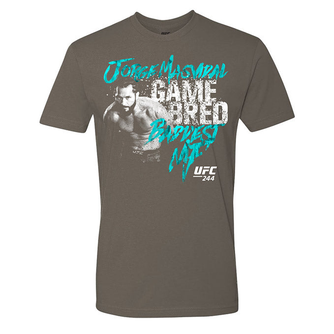 "UFC 244 Jorge ""Gamebred"" Masvidal Baddest MF Graphic T-Shirt - Charcoal"