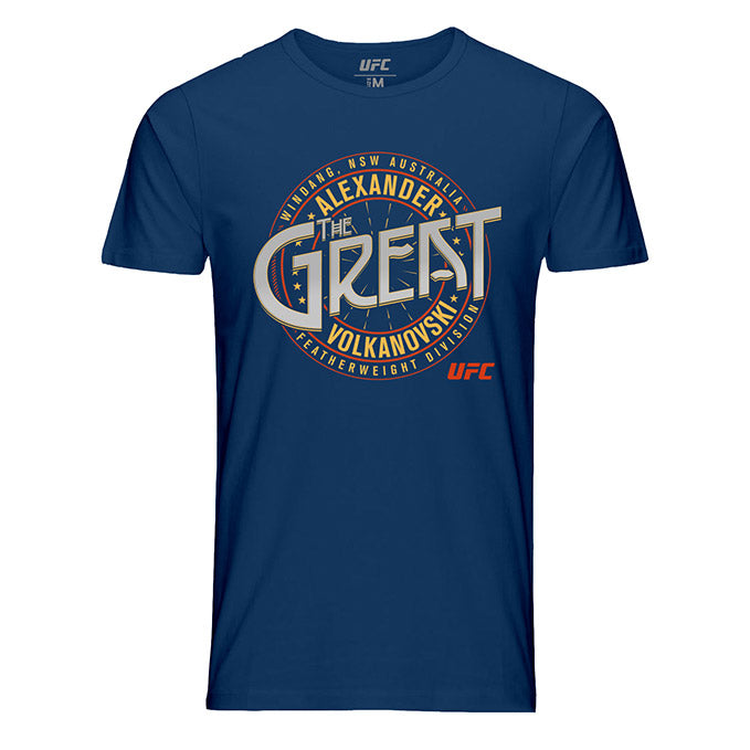 "Men's UFC 245 Alexander ""The Great"" Volkanovski Crest T-Shirt - Navy"