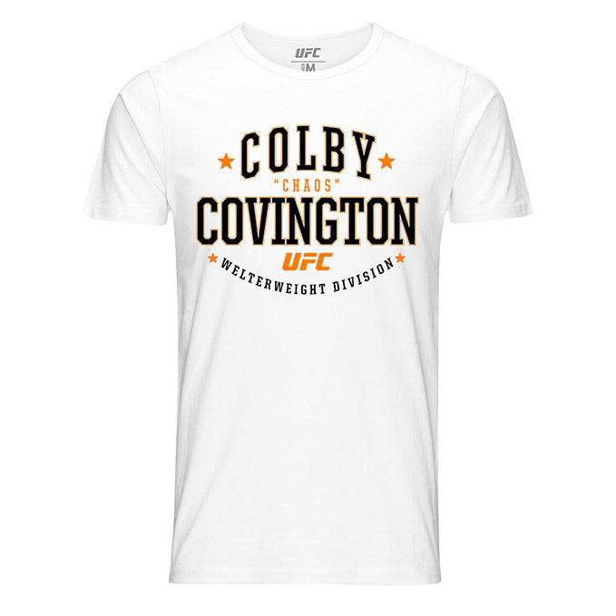 "Men's UFC 245 Colby Covington Peoples Champ ""Chaos"" Graphic T-Shirt - White"