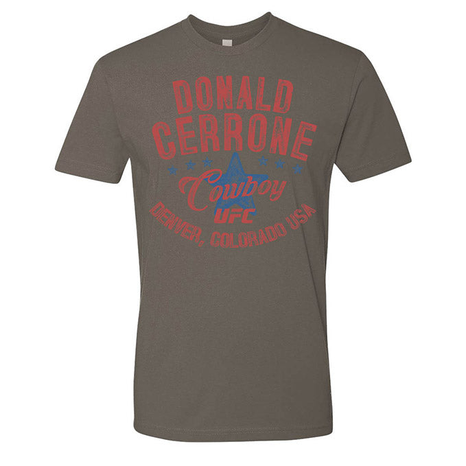"Men's UFC Donald ""Cowboy"" Cerrone Vintage Graphic T-Shirt - Grey"