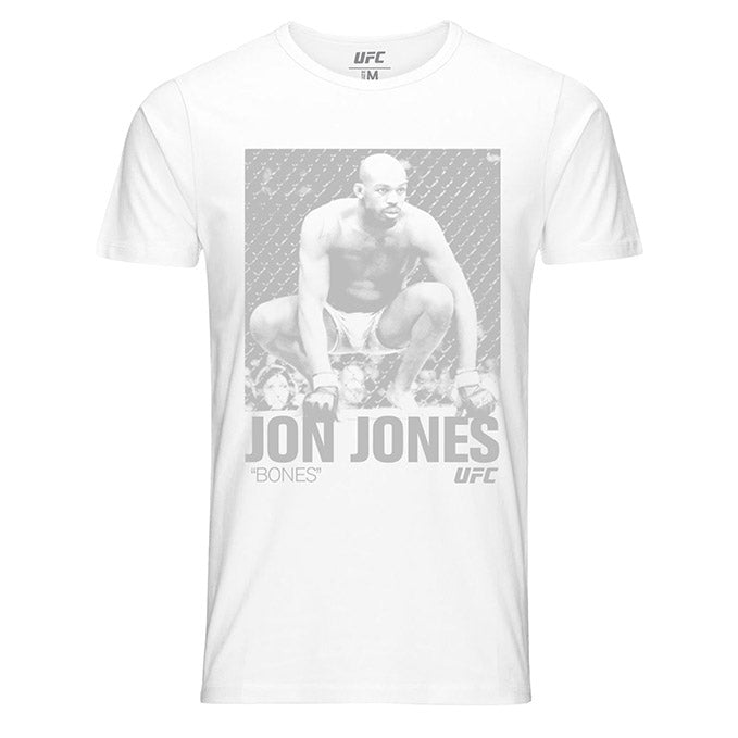 "Men's UFC Jon ""Bones"" Jones ICON Graphic T-Shirt - White"