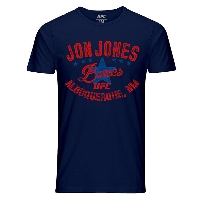 "Men's UFC Jon ""Bones"" Jones Vintage Graphic T-Shirt - Navy"
