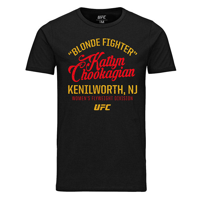 "Men's UFC ""Blonde Fighter"" Katlyn Chookagian Script T-Shirt - Black"