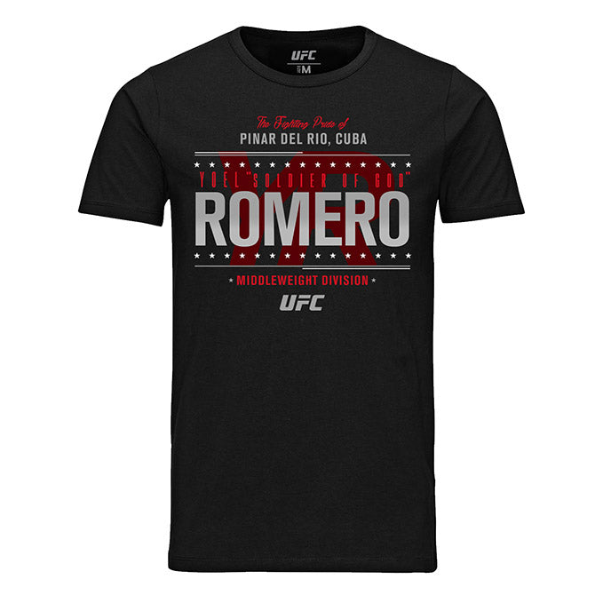 "Men's UFC Yoel ""Soldier Of God"" Romero Fighting Pride T-Shirt - Black"