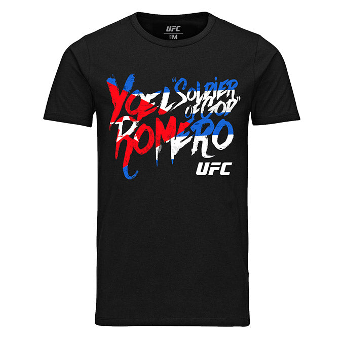"Men's UFC Yoel ""Soldier of God"" Romero Graffiti T-Shirt - Black"