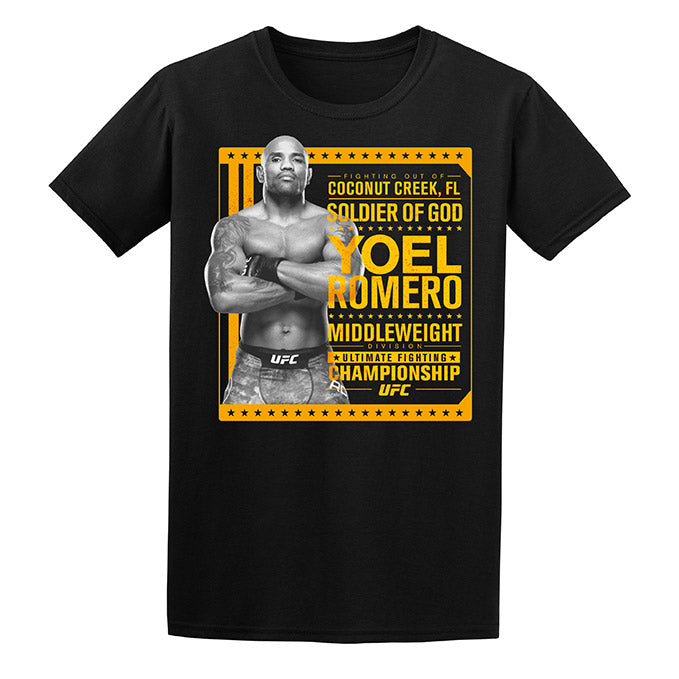 "Men's UFC Yoel ""Soldier of God"" Romero Stance T-Shirt - Black"
